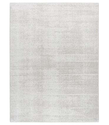 Alfombra Lunar Silk. Color White. Borde Festón de Cinta.