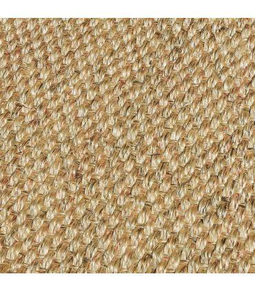 Alfombra de sisal Madagascar. Color Tostado. Detalle.