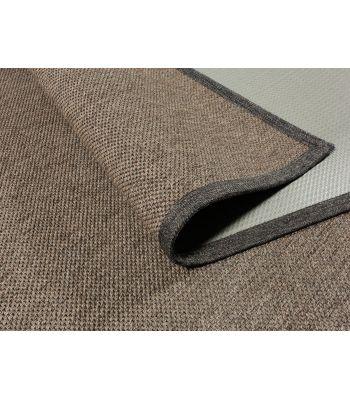 Alfombra Exterior Interior a Medida. Modelo Royal 9. Color Marrón. Borde Tela PE marrón.