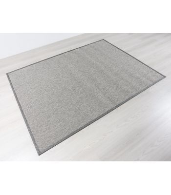 Alfombra Exterior Interior Modelo Outdoor 4506. Color Gris. Borde Tela PE Gris.