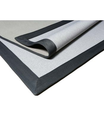 Alfombra a Medida Nature Premium Eco Craft. Color Linen. Borde Cenefa Tela MF Gris 09.