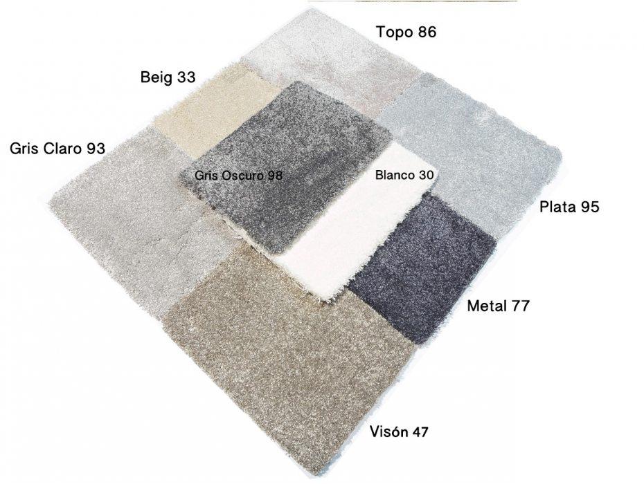 Alfombra a medida de pelo suave y mullido modelo platinum for Alfombras sinteticas a medida