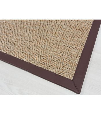 Outdoor 4027. Beig. Alfombra de exterior. Borde PS Zafir Chocholate.