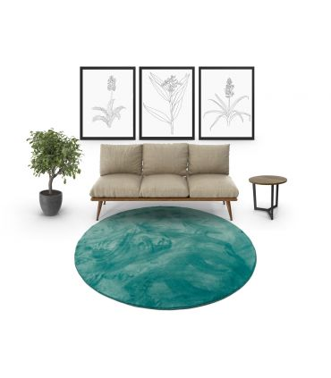 Riviera - Alfombra suave de fibras sintéticas. Alfombra Redonda.