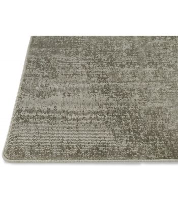Lunar Silk. Alfombra a medida de fibra reciclada. Color Antique Bronze. Borde Festón.
