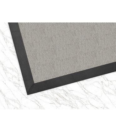 Alfombra Royal 9. Color Plata. Cenefa Tela Microfibra Espiga Gris. Alfombras de fibras sintéticas.