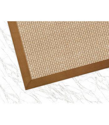 Outdoor 4508. Color Beig. Borde Tejido Espiga Tabaco 06. Alfombra de fibras sintéticas.