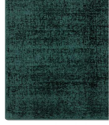 Lunar Silk. Alfombra a medida de fibra reciclada. Color Sparkling Emerald. Borde Festón.