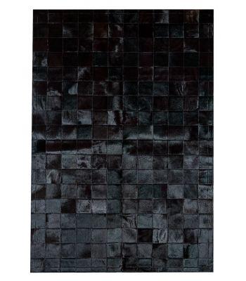 Alfombra Patchwork Negro. Cuadros de 10x10 cm.
