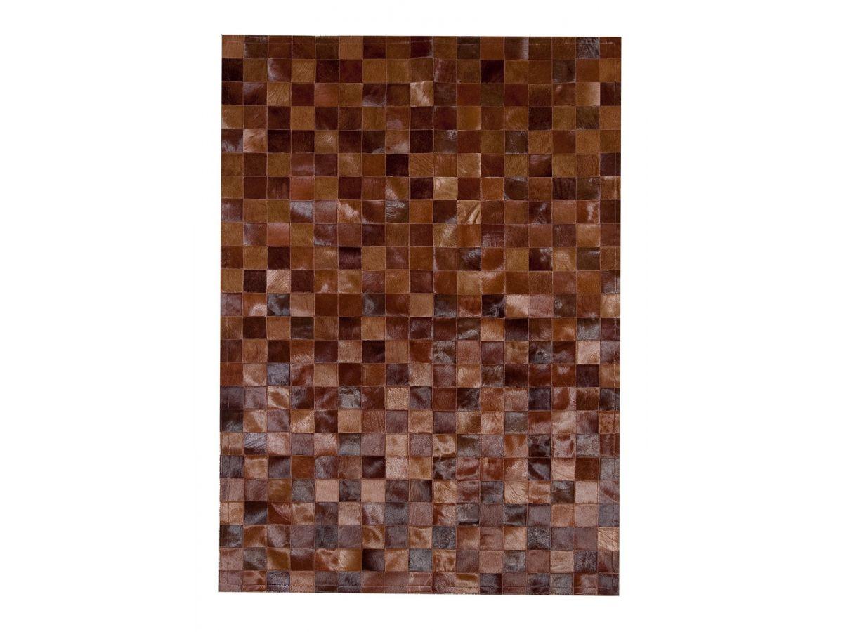 Alfombra de piel de tonos marrones hecha a medida modelo for Cuadros a medida