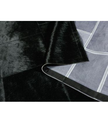 Alfombra Patchwork Negro. Cuadros personalizados por Diseño de Cliente. Pídanos más información.