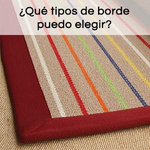 ¿Que tipo de borde puedo elegir para mi alfombra a medida?